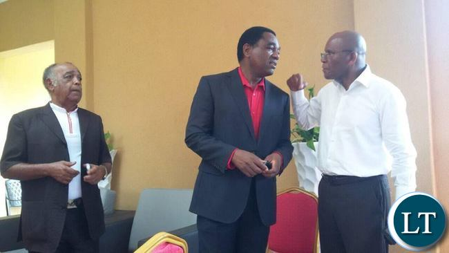 HH chats with Bob Sichinga as Dante Saunders listens in