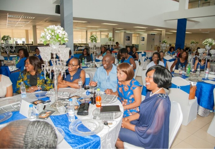 Minister of Gender Hon. Victoria Kalima and Stanbic CEO Charles Mudiwa  at the Stanbic Bank Blue Diamonds conference.