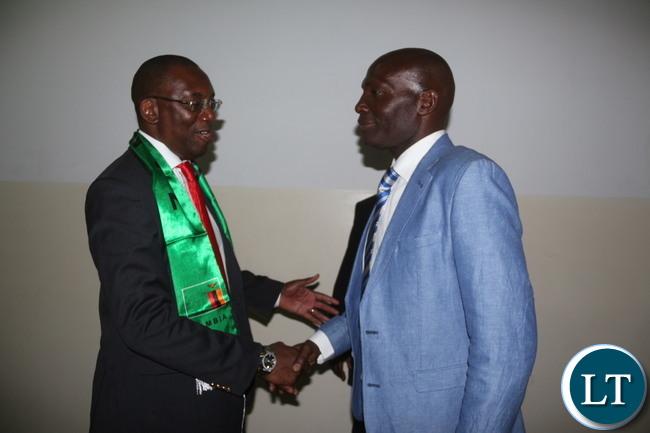 FAZ President Andrew Kamanga with Coach Wedson Nyirenda