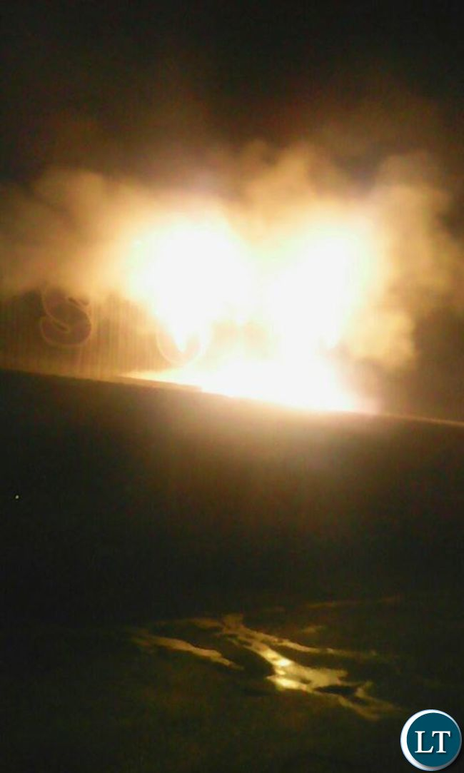 Shoprite building in Mansa on fire