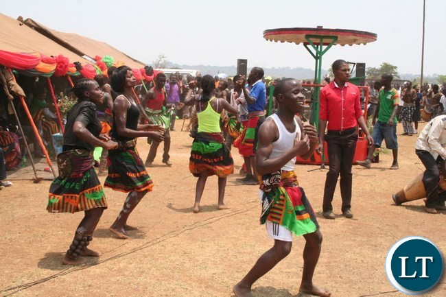 Solwezi college of education students entertain people during the Independence celebrations