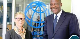 World Bank Country Manager for Zambia Ms. Ina Ruthenberg with Mr Mutati
