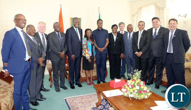Zambia Sugar Delegation meets President Lungu at Statehouse