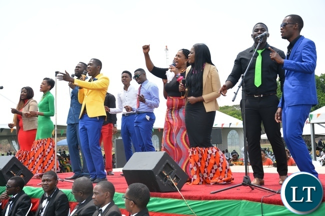 Peace Preachers performs during the 52nd Independence Celebration at State House