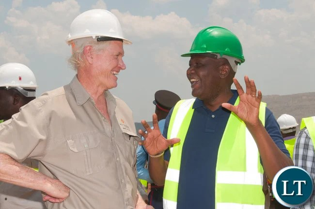 Finance Minister Hon. Felix Mutati and FQM Director of Operations Matt Pascal: looking to the future of mining.
