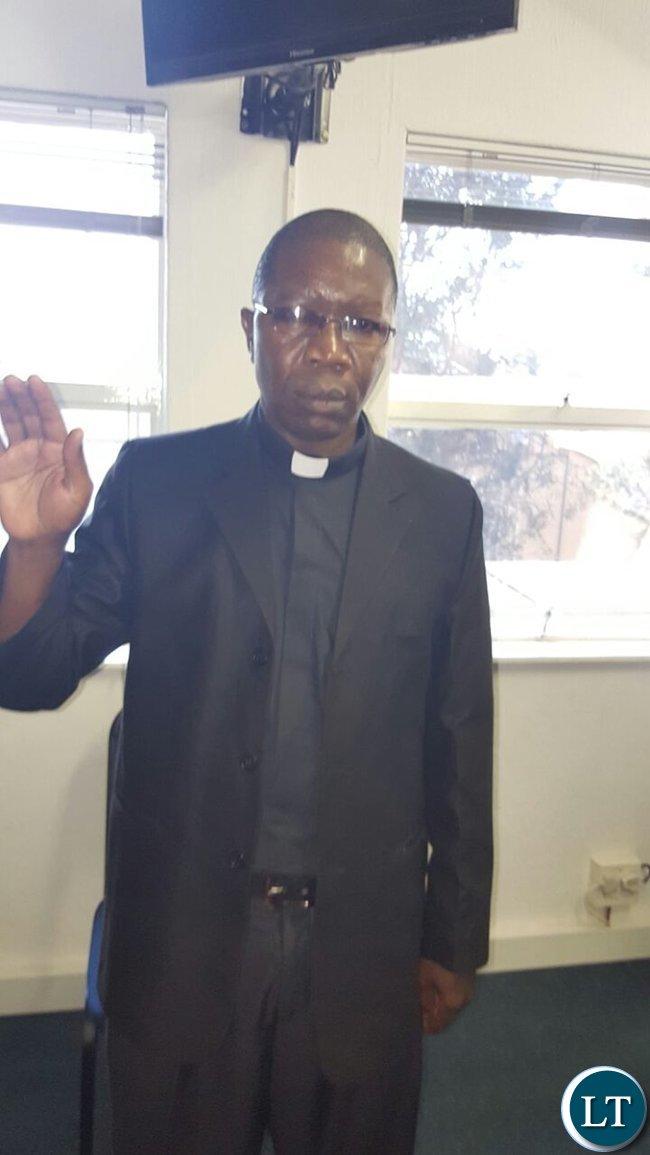 Father Harrison Mulenga of Pretoria Father Harrison Mulenga of Pretoria