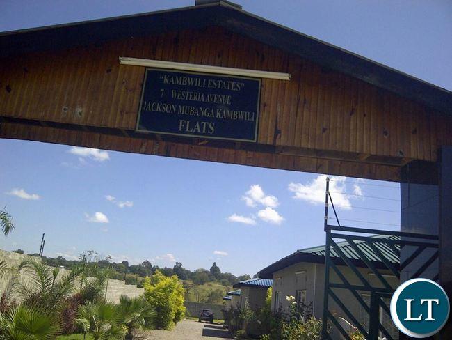 Entrace to Kambwili Flats
