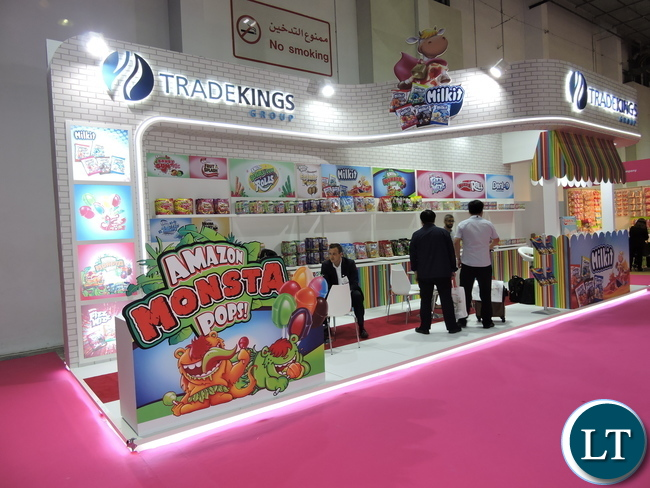 Expo attendees visit the Trade Kings Group stand