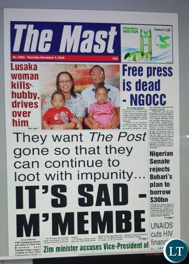 Times Zambia Newspaper