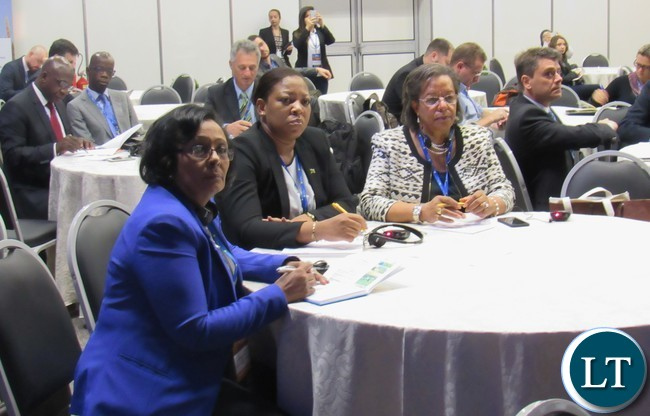 Their Excellencies: From l-r Ethiopia's Ambassador Sinknesh Ejigu, Zambia's Ambassador to Brazil Cynthia Misozi Jangulo and Botswana's Ambassador Bernadette Rathedi following proceedings during the 4th Africa Brazil Forum in Foz do Iguacu Brazil