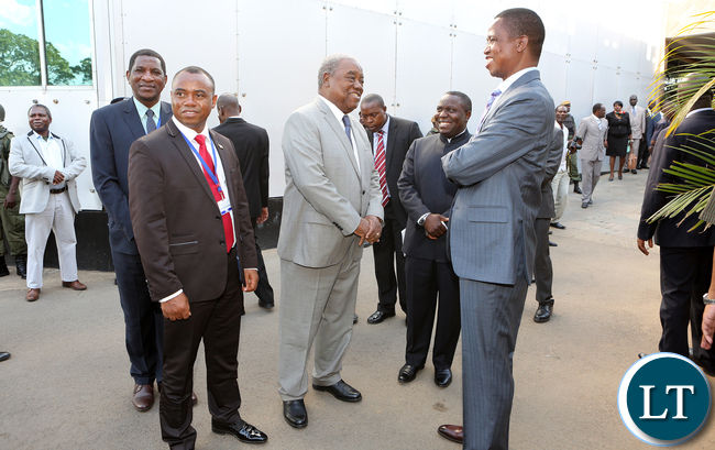 President Edgar Lungu with Former President Rupah Banda and African union peace and Security Council Meeting in Lusaka