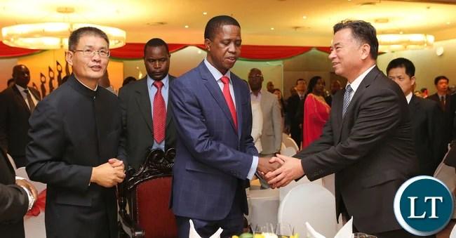 President Lungu at Chinese Dinner