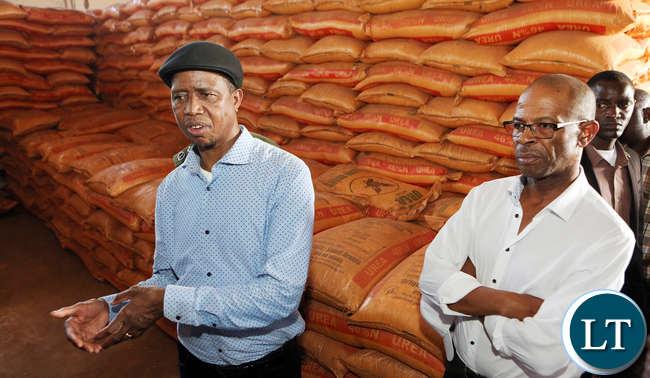 President Edgar Lungu Tours Agricultural input shades in Luangwa