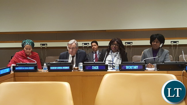 UN D-SG Designate, Sg-designate, Mwaba Kasese-Bota and Theresah Chanda -