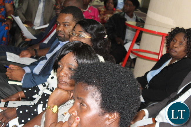 Delegates following proceedings at the Copperbelt Consultative meeting