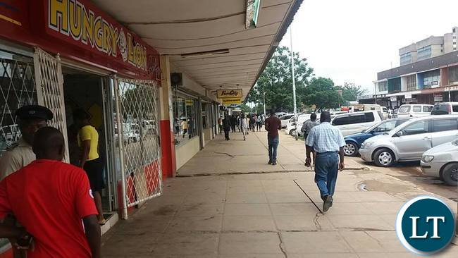 Kitwe town centre without the vendors