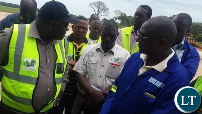 Mr Chitotela grills officials from Nzovu, the firm which was constructing Kafulafula toll plaza