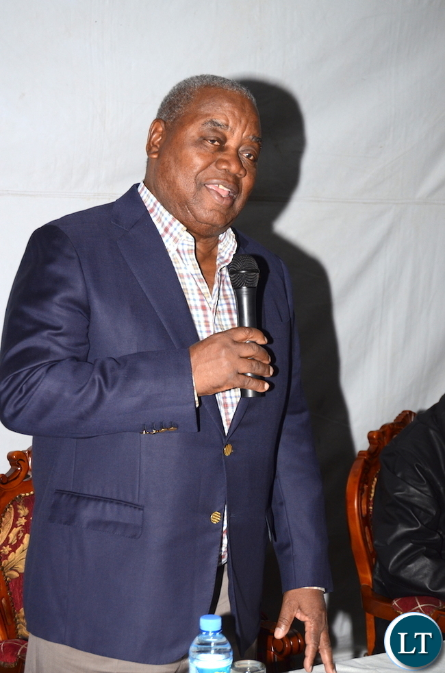 Former president Rupiah Banda speaks   during the Zambian's  meet the President dinner at the Ambassador's residence  in Addis  Ababa, Ethiopia on Monday, January 29,2017 -Pictures by THOMAS NSAMA