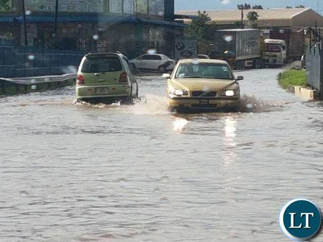 Part of the industrial area flooded