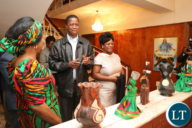 President Edgar Lungu with Former President Rupiah Banda at the Zambian mission Addis Ababa during the Zambian Night on Sunday- Pictures by Eddie Mwanaleza/Statehouse 29-01-2017