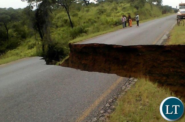 Portion of the Damaged Batoka Maamba road