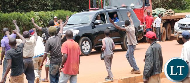 President Edgar Lungu in Solwezi