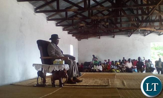 The Litunga seated on his royal throne on Saturday