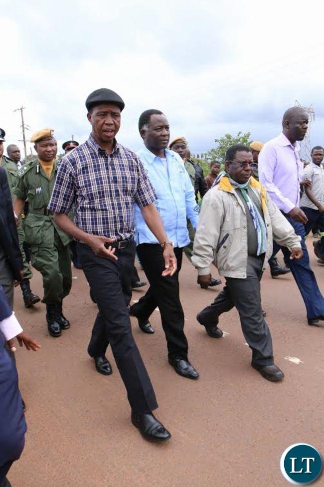 President Lungu inspects SOLWEZI Chingola ROAD