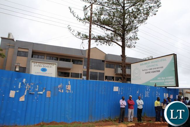 Solwezi New civic CENTRE underconstraction