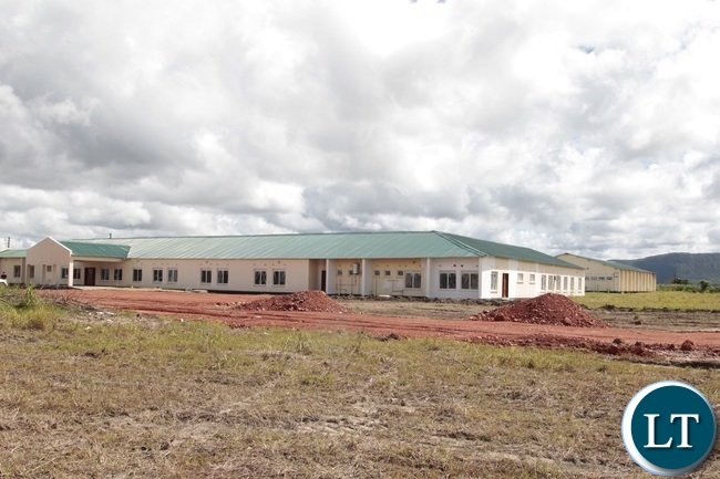 Part of the newly built Hospital in Mkushi