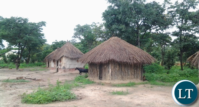 The poorly constructed, unsafe, makeshift huts made of grass and mud structures where girls used as a Domitory