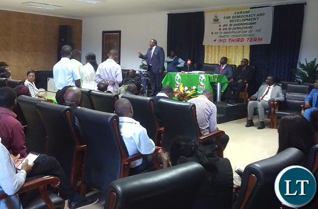 Expelled Party Vice President Chifumu Banda