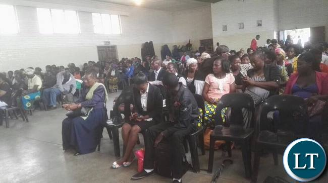 Members of the public attending the launch