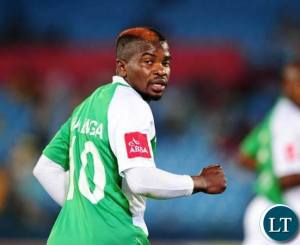 Mulenga when he was playing for Bloemfontein Celtic in the PSL in the 2014 season