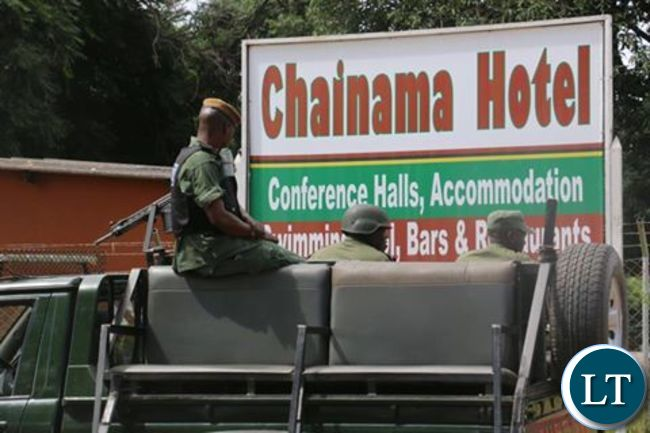 Police surround Chainama Hotel