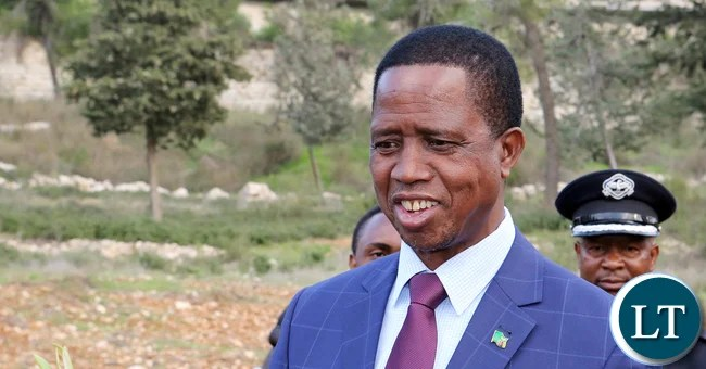 President Edgar Chagwa Lungu pose after he Planted a Tree at The Grove of the Nation in the Jerusalem Forest on Tuesday 28-02-2017