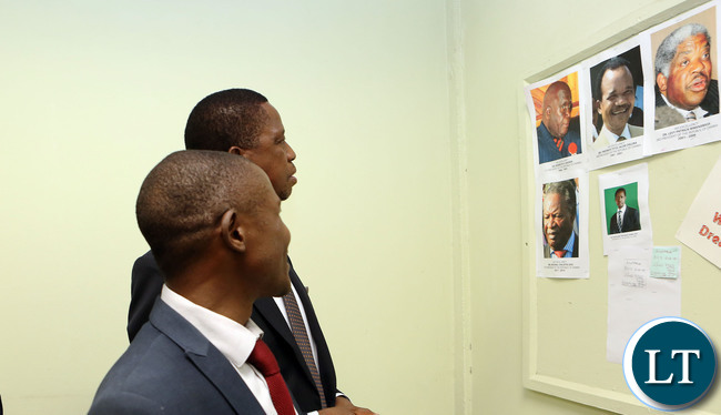 President Edgar Lungu with Government Printer Mr Charles Zimba duringthe tour of Government Printers in Lusaka on wednesday 22-03-2017