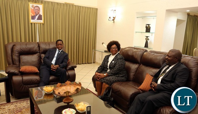 President Lungu at His Village in Swaziland