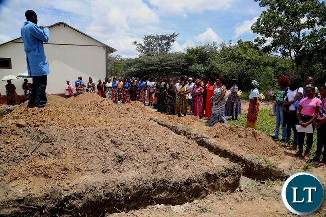 Women of Kasenga township in Chongwe District celebrate Womens day in style by laying a foundation for a Maternity wing at Kasenga Health Post in Chongwe District.Picture by Ennie Kishiki/Zanis.