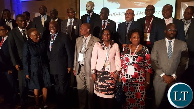 Labour and Social Security Minister, Mrs. Joyce Nonde-Simukoko (2nd right) with other delegates at the Jobs for Youths in Africa (JFYA) regional ministerial conference in Pretoria on 27th February, 2017