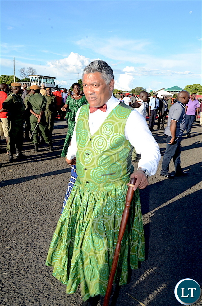 Justice Minister Given Lubinda arrives at Mongu Airport for Kuomboka Ceremony on  Friday,April 7,2017 -Picture by THOMAS NSAMA