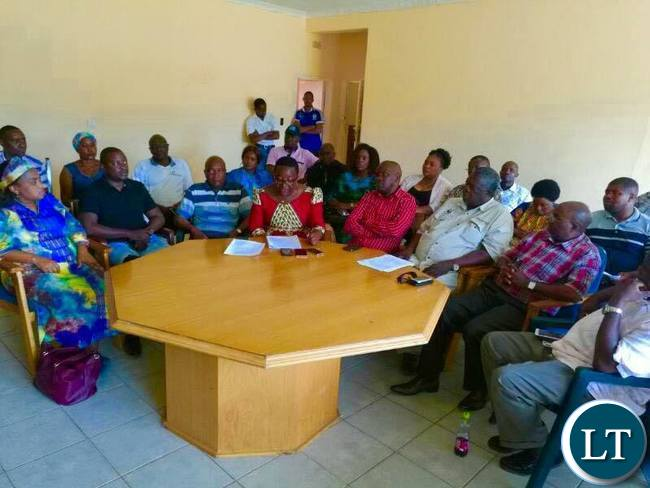 Some of the UPND MPs during the news briefing