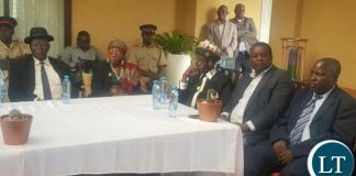 Traditional leaders during a news briefing