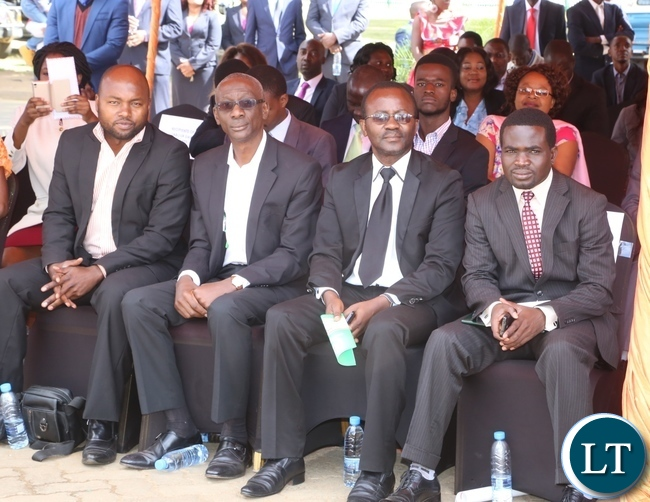 National Restoration Party Elias Chipima (2nl) attending the 2017 Labour Day Celebration at Freedom Statue yesterday 01-05-2017. Picture by ROYD SIBAJENE/ZANIS