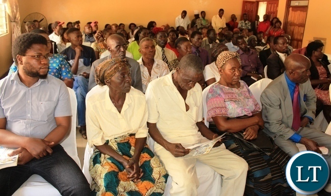 Masaiti residents attend a public hearing by the Parliamentary Committee on Health, Community Development and Social Services