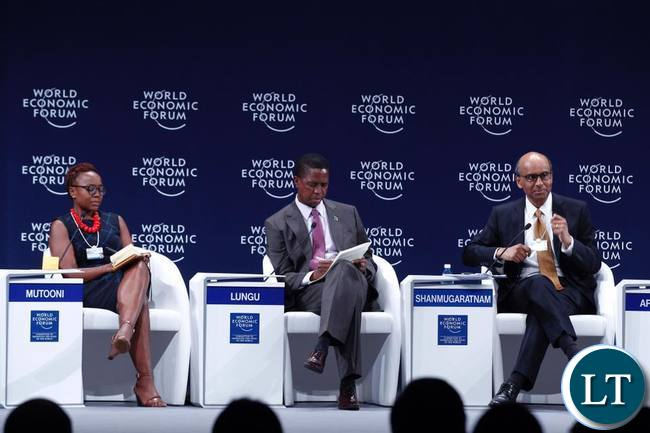 President Lungu at the World Economic Forum