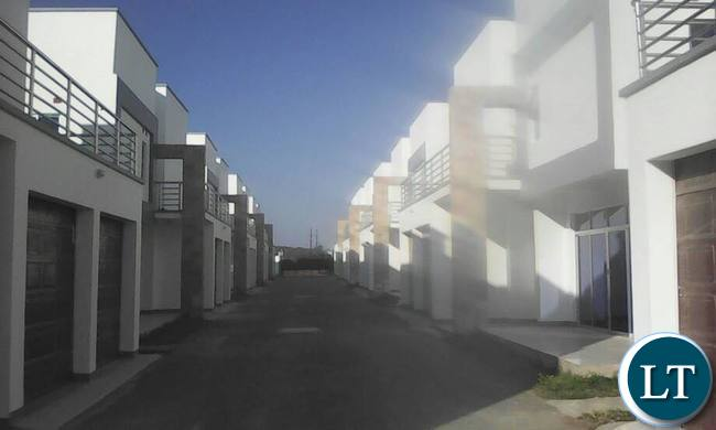 A line of flats alleged to belong to President Lungu