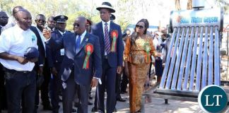 Ghanaian President Akufo Addo and President Lungu at Trade Fair Grounds in Ndola for the official opening of the Zambia International Trade Fair