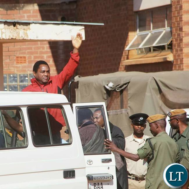 HH waves at his supporters after leaving the Magistrate Court on Wednesday