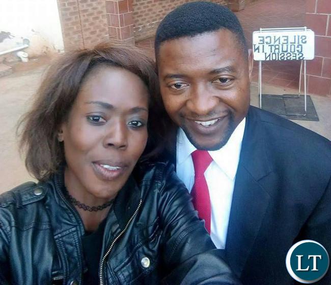 Ms. Clance Zulu with UPND defence lawyer keith mweemba